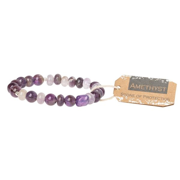 Amethyst Stone Stacking Bracelet - Across The Way