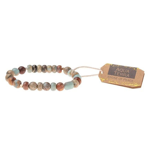 Aqua Terra Stone Stacking Bracelet - Across The Way