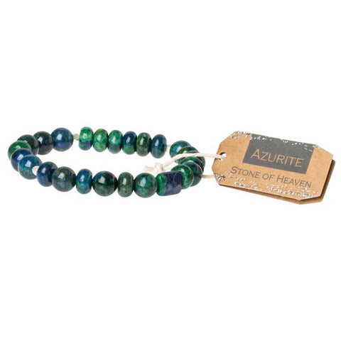 Azurite Stone Stacking Bracelet - Across The Way