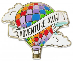 Adventure Awaits Balloon Pin