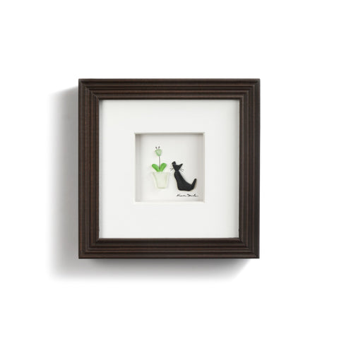 Purrfect Petals Wall Art 6x6