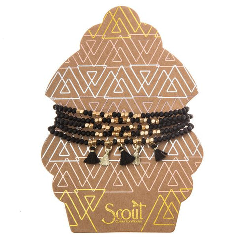 Black Gold Multi Tassel Wrap - Across The Way