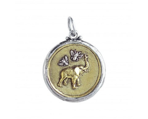 Bee Saved Elephant Pendant