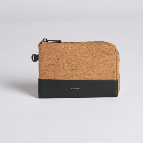 Cameron Cork Wristlet - Black w Cork - Across The Way
