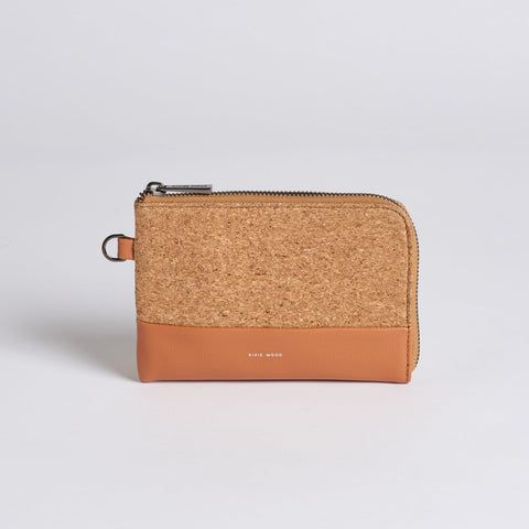 Cameron Cork Wristlet - Caramel w Cork - Across The Way