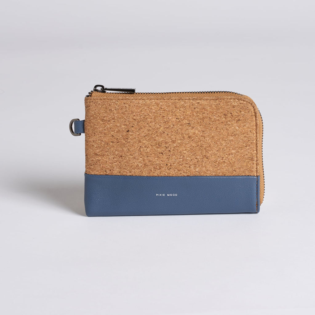 Cameron Cork Wristlet - Midnight w Cork - Across The Way