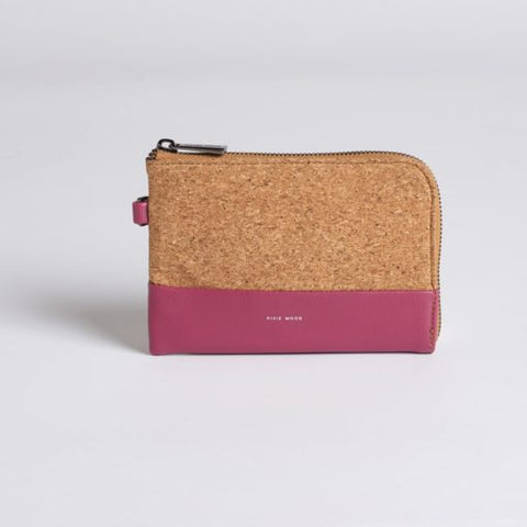 Cameron Cork Wristlet - Red Bean w Cork - Across The Way
