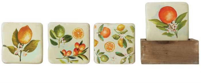 Citrus Coasters with Box