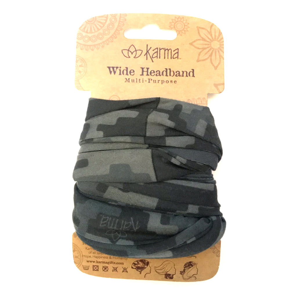 Wide Headband - Digital Cammo