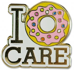 I donut Care Pin
