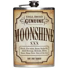 Moonshine flask 8 oz. stainless steel