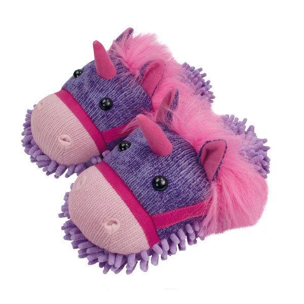 Fuzzy Slippers Unicorn
