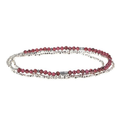 Garnet Silver Delicate Wrap - Across The Way