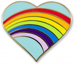 Rainbow Heart Pin
