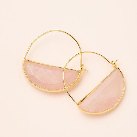 Hoop Earring Rose Q/Gold