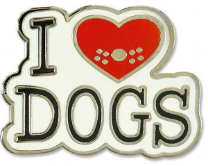 I Love Dogs Pin