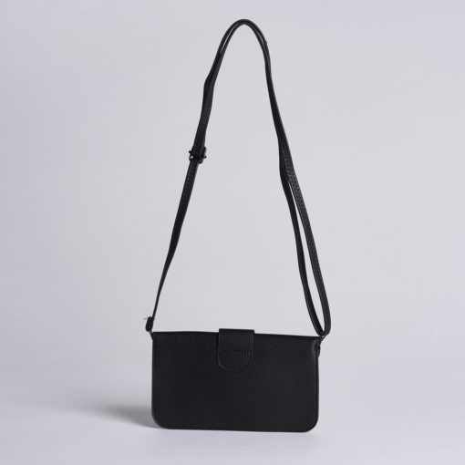 Jacqueline Crossbody (Wide) - Black - Across The Way