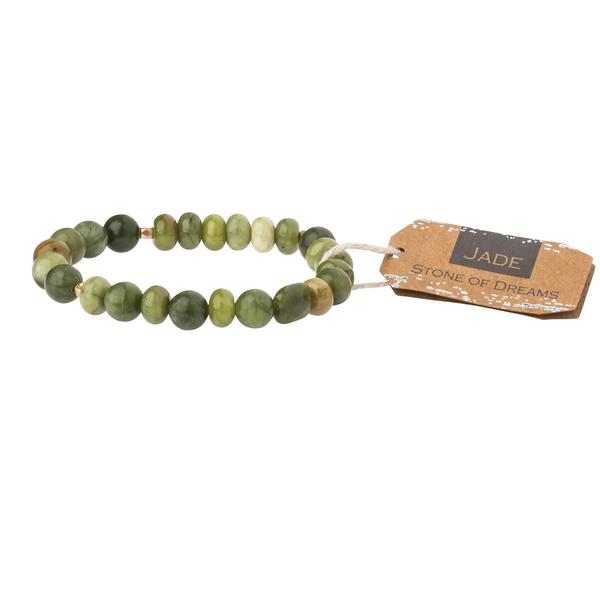 Jade Stone Stacking Bracelet - Across The Way