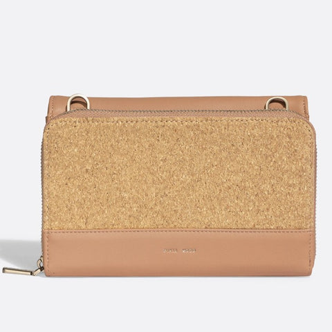 Jane 2-in-1 Wallet Purse - Apricot /  Cork