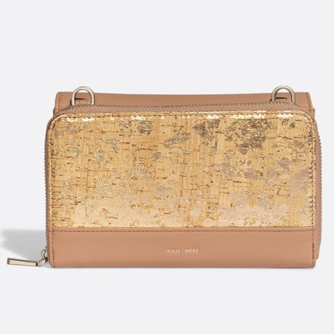 Jane 2-in-1 Wallet Purse - Apricot / Metallic Rose