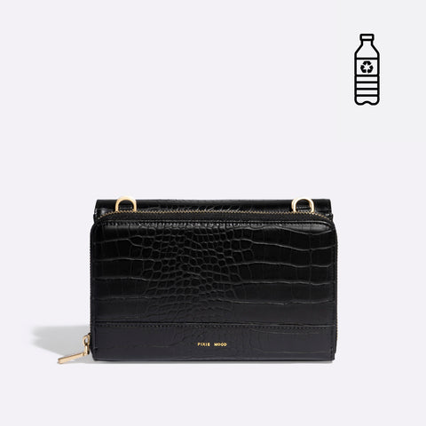 Jane 2-in-1 Wallet Purse - Black Croc