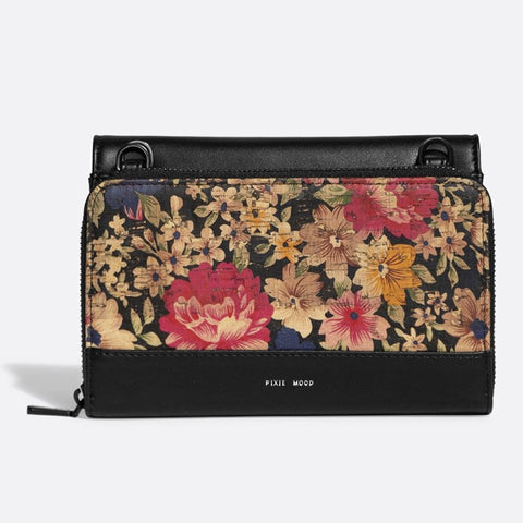 Jane 2-in-1 Wallet Purse - Black / Dark Floral Cor