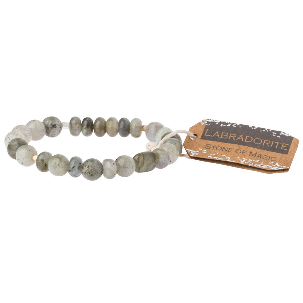 Labordorite Stone Stacking Bracelet