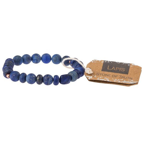 Lapis Stone Stacking Bracelet - Across The Way