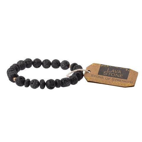Lava Stone Stacking Bracelet - Across The Way