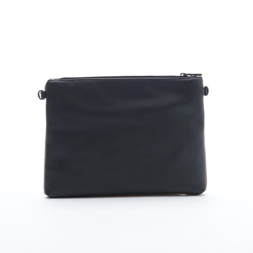 Nicole Pouch Large - Black / Cork - Across The Way