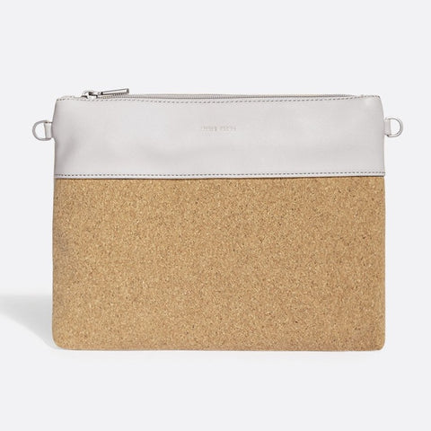 Nicole Pouch Large - Cloud / Cork