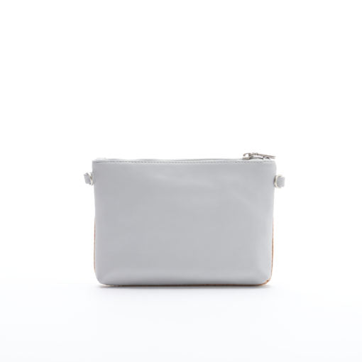 Nicole Pouch Small - Grey/Cork - Across The Way
