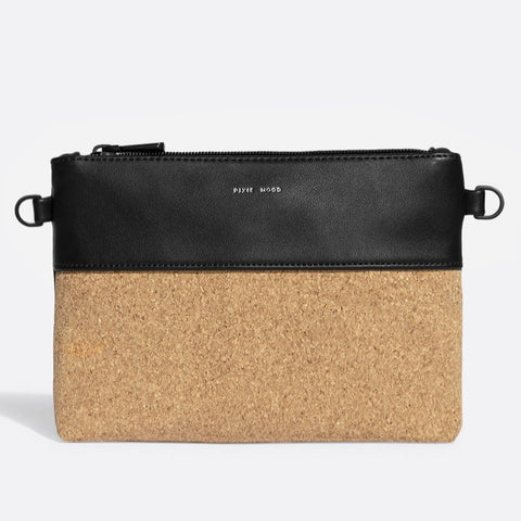 Nicole Pouch Small - Black /  Cork