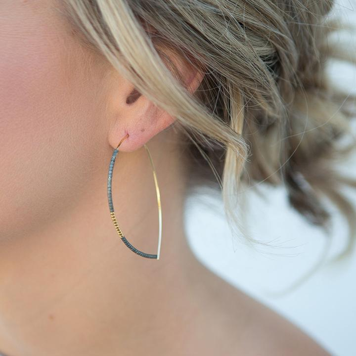 Norah Earrings, Matte Turquoise - Across The Way