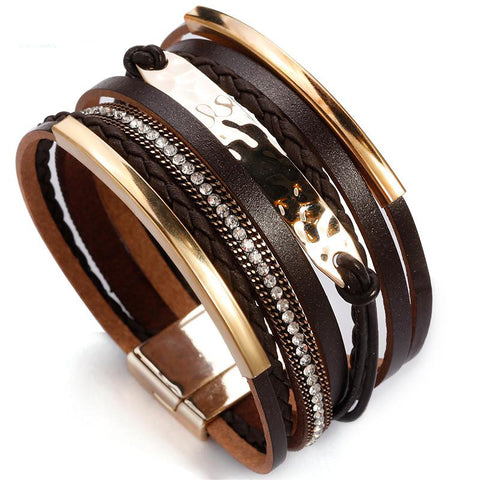 Boho Braided Leather Rope Bracelets - Across The Way