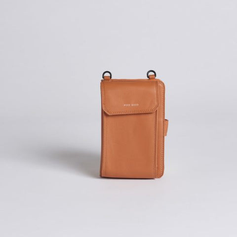 Rae Phone Crossbody - Caramel