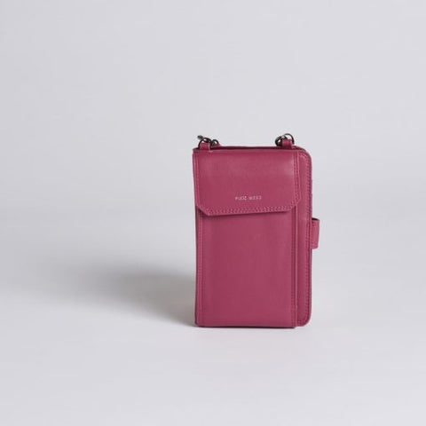 Rae Phone Crossbody - Red Bean