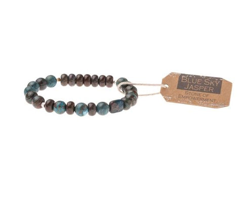 Sky Jasper  Stone Stacking Bracelet - Across The Way