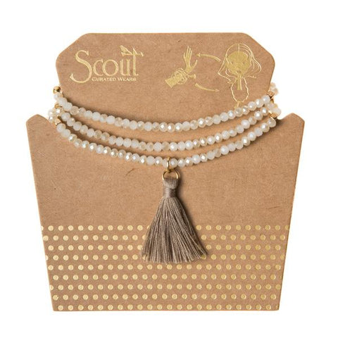 Tassel Wrap White Sand - Across The Way