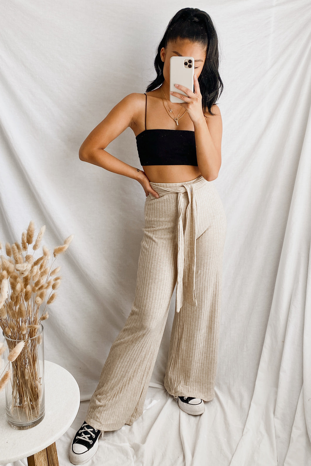 Lounge Around Ribbed Pants