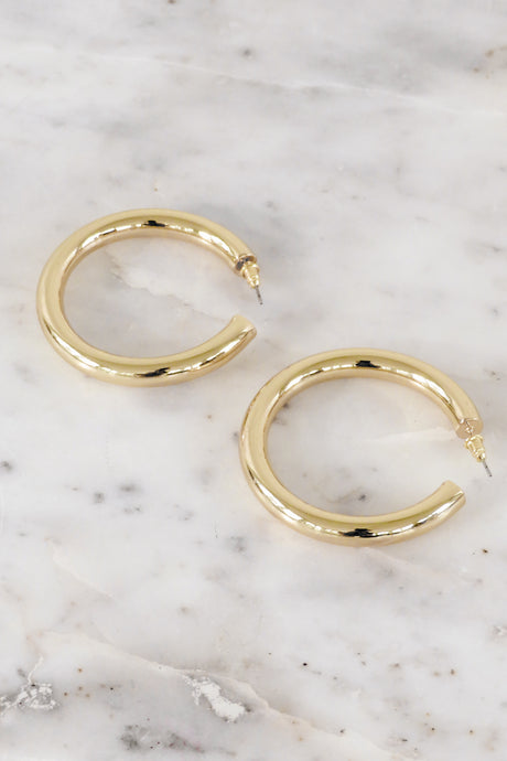 Kaia Hoop Earrings – Gold