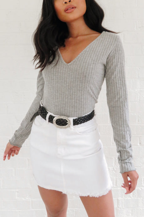 Aspen Long Sleeve Top – Grey