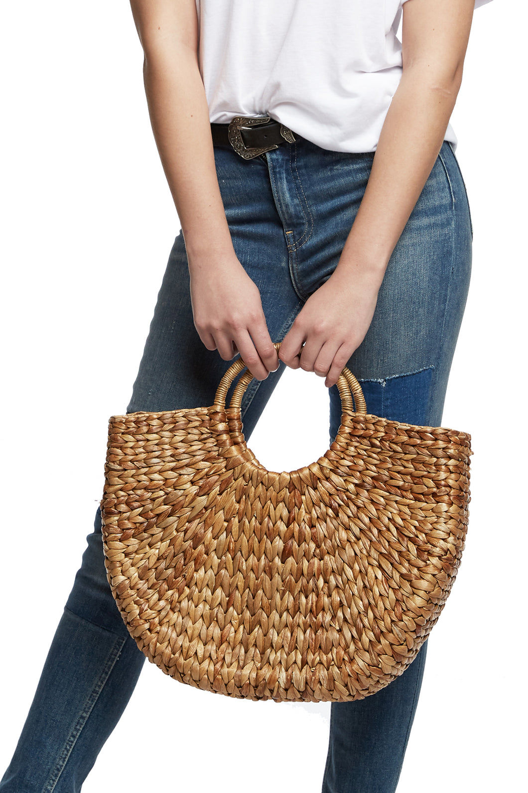 Half Moon Straw Bag