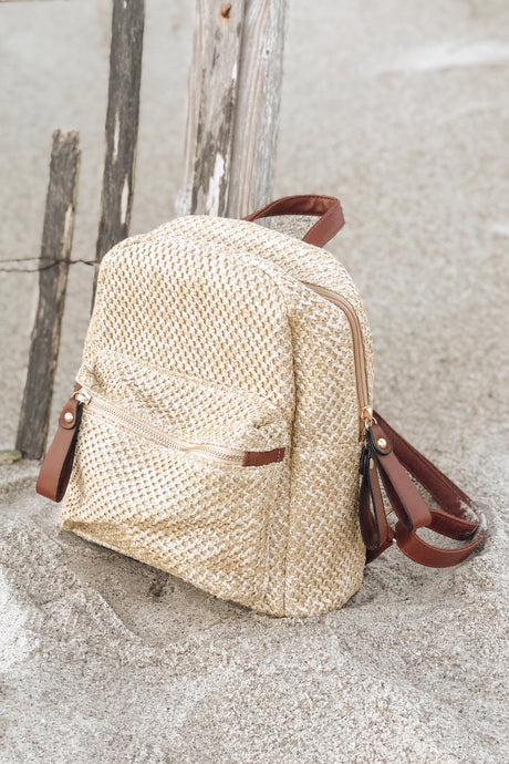 Barcelona Straw Backpack