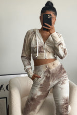 Java Tie Dye Velour Set