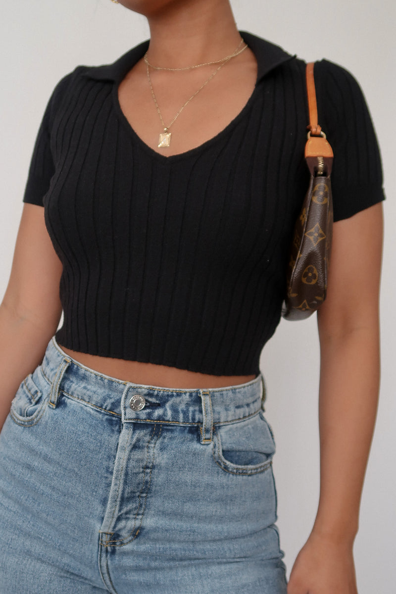 Blair Crop Top – Black