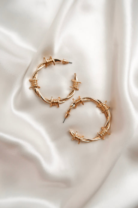 Forbidden Love Hoop Earrings