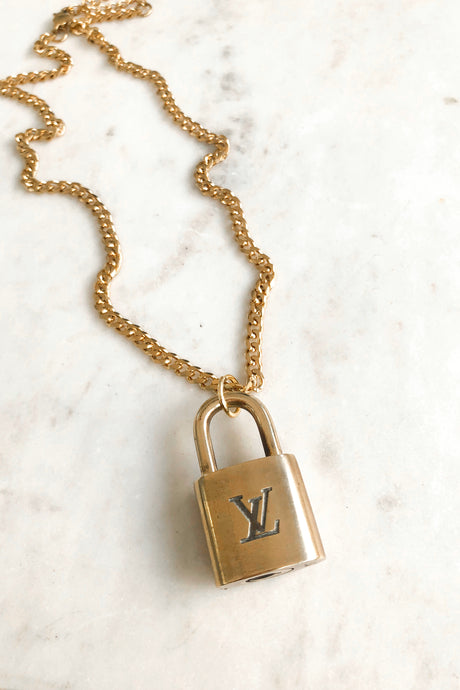 Repurposed Lock Necklace