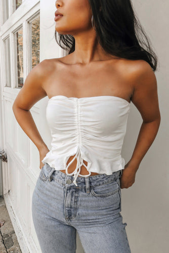 Heartbreaker Tube Top – White