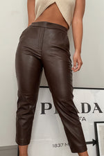 Zoe Cropped Faux Leather Pants
